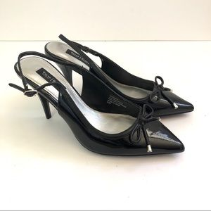 White House Black Market Black pointy meredith 👠